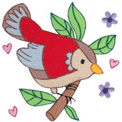 Easter Delights Red Bird embroidery design