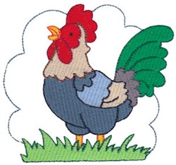 Easter Delights Rooster embroidery design