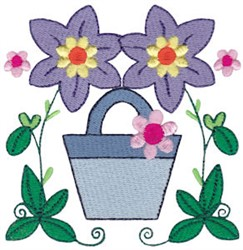 Easter Delights Flowers embroidery design