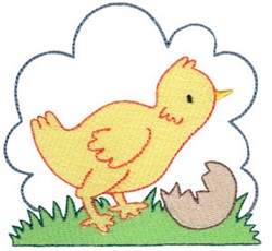 Easter Delights Chick embroidery design