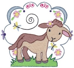 Easter Delights Lamb embroidery design