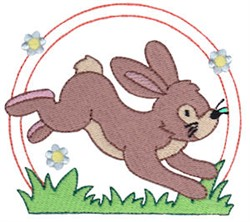Easter Delights Hopping Bunny embroidery design