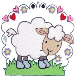Easter Delights Sheep embroidery design