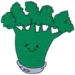 Baby Bites Broccoli embroidery design