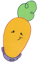Baby Bites Carrot embroidery design