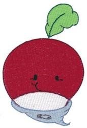 Baby Bites Radish embroidery design