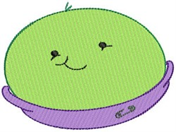 Baby Bites Pea embroidery design