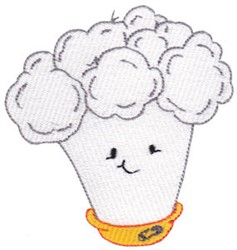Baby Bites Cauliflower embroidery design