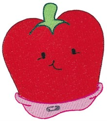 Baby Bites Bell Pepper embroidery design