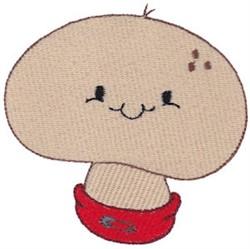 Baby Bites Mushroom embroidery design