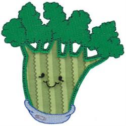 Baby Bites Applique Broccoli embroidery design