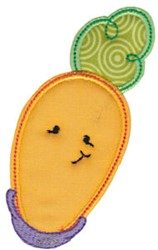 Baby Bites Applique Carrot embroidery design