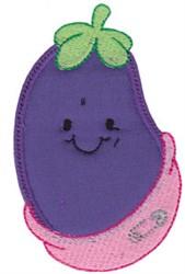 Baby Bites Applique Eggplant embroidery design