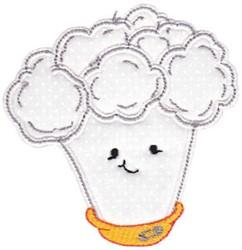 Baby Bites Applique Cauliflower embroidery design