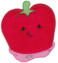 Baby Bites Applique Pepper embroidery design