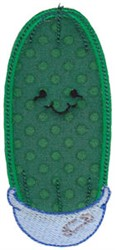 Baby Bites Applique Cucumber embroidery design