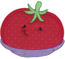 Baby Bites Applique Tomato embroidery design