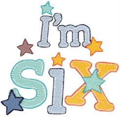 Birthday Boy Im Six embroidery design