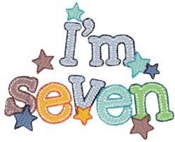 Birthday Boy Im Seven embroidery design