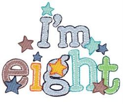 Birthday Boy Im Eight embroidery design