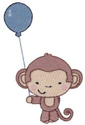 1st Birthday Monkey embroidery design