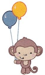 2nd Birthday Monkey embroidery design