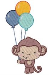 3rd Birthday Monkey embroidery design