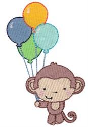 4th Birthday Monkey embroidery design