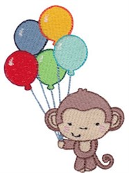 5th Birthday Monkey embroidery design