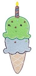 2nd Birthday Ice Cream embroidery design