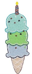 3rd Birthday Ice Cream embroidery design