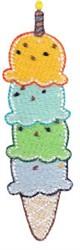 4th Birthday Ice Cream embroidery design