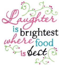 Kitchen Laughter embroidery design