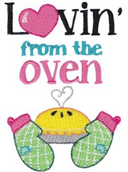 Love From The Oven embroidery design