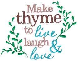 Make Thyme For Love embroidery design