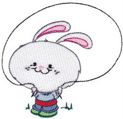 School Critter Boy Bunny embroidery design