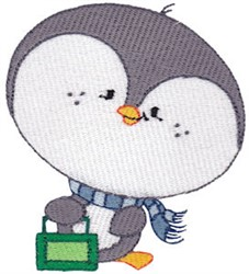 School Critter Penguin embroidery design