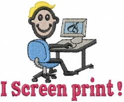 Screen Printer Joe embroidery design
