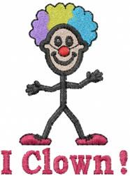 Clown embroidery design