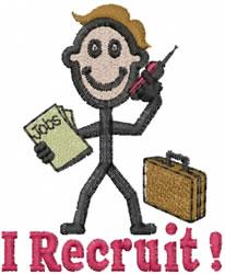 Recruiter Joe embroidery design
