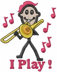 Trombonist Joe embroidery design