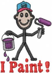 Painter Joe embroidery design