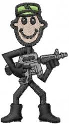 Army Joe embroidery design
