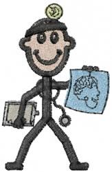 Doctor Joe embroidery design