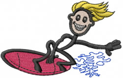 Surfer Joe embroidery design