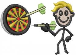 Dart Player Joe embroidery design