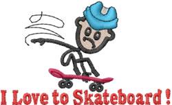 Skater Joe embroidery design