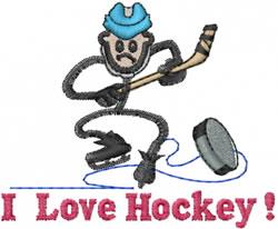 Hockey Player Joe embroidery design