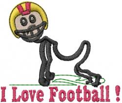 Football Player Joe embroidery design