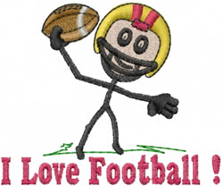 Quarterback Joe embroidery design